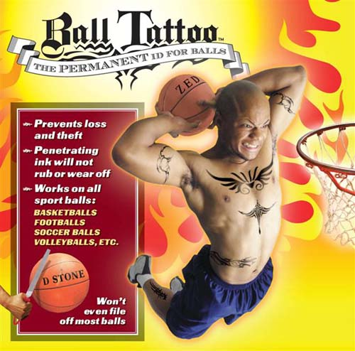Ball Tattoo: Permanent ball ID